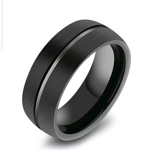 Other - Mens black stainless steel titanium size 11 ring